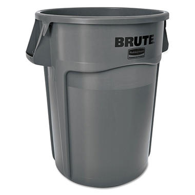 Rubbermaid Brute Trash Can - Gray - 55 gal.