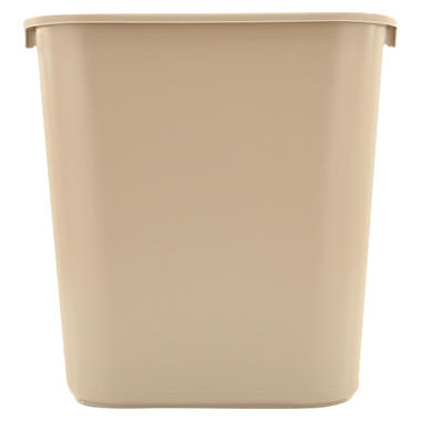 Rubbermaid Soft Molded Plastic Trash Can - Beige - 7 gal.
