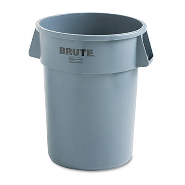 Rubbermaid Round Brute Container - Gray - 44 gal.