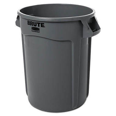 Rubbermaid Brute Trash Can - Gray - 32 gal.