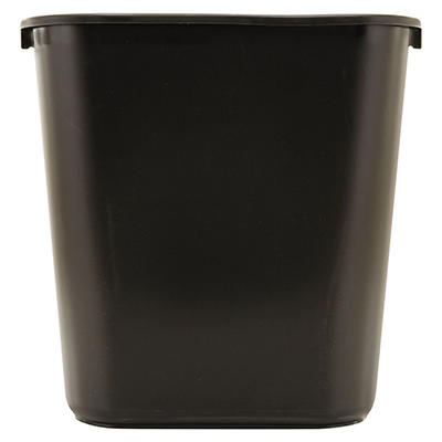 Rubbermaid Soft Molded Plastic Trash Can - Black - 7 gal.