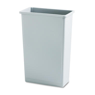 Rubbermaid Slim Jim Waste Receptacle - Gray - 23 gal.
