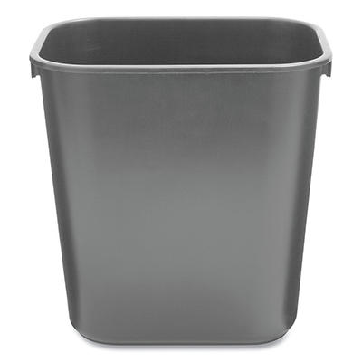 Rubbermaid Soft Molded Plastic Trash Can - Black - 3.5 gal.