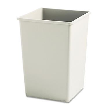Rubbermaid Square Trash Can - Beige - 35 gal.