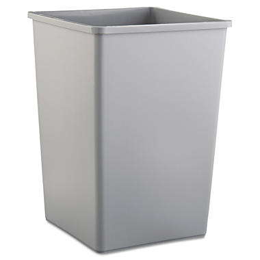 Rubbermaid Square Trash Can - Gray - 35 gal.
