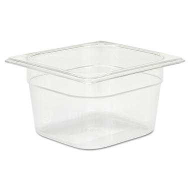 Rubbermaid Commercial Cold Food Pans, Clear