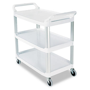Rubbermaid Xtra? Utility Cart, Open Sided - Off White