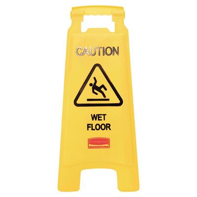 """Rubbermaid Floor Sign with """"Caution Wet Floor"""""""