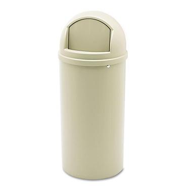 Rubbermaid Marshal Classic Trash Can - Beige - 15 gal.