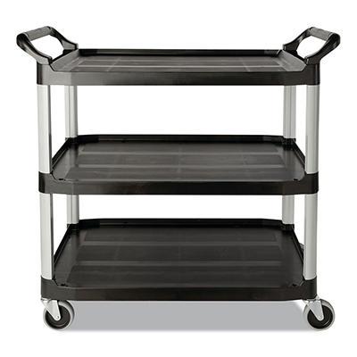 Rubbermaid Three-Shelf Service Cart - Black