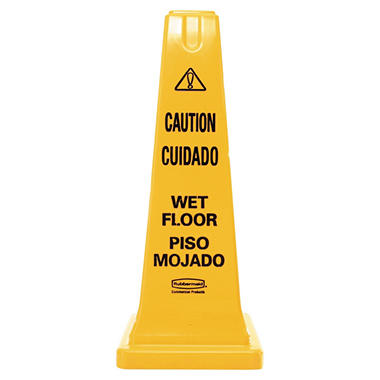 Rubbermaid Safety Cone with Multi-Lingual