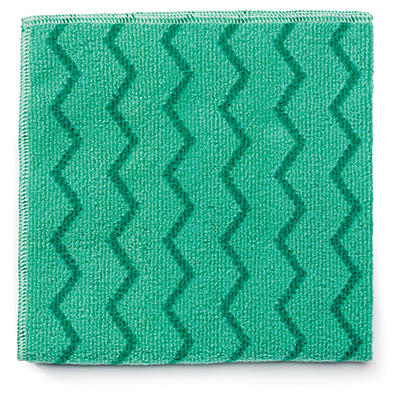 Rubbermaid Microfiber Cleaning Cloths Green - 12 ct.