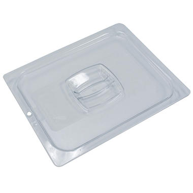 Rubbermaid Commercial Cold Food Pan Covers, 1/2 Size, Clear