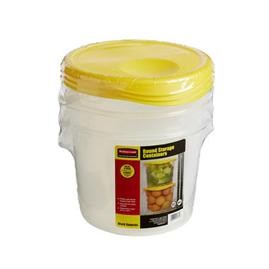 Rubbermaid� Round Storage Containers - 3pk