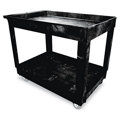 Rubbermaid Utility Cart, 2 Shelves - Black
