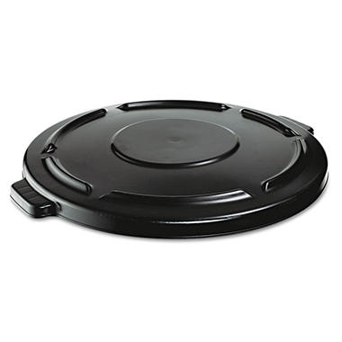 Rubbermaid Vented Round Lid for Brute 44 gal. Container - Black