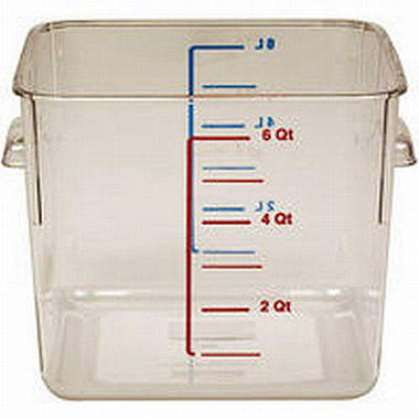 Rubbermaid Square Storage Container - 6qt/2pk
