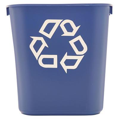 Rubbermaid Commercial Deskside Recycling Container - Blue - 13 5/8 qt.