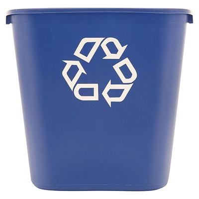 Rubbermaid Deskside Recycling Container - Blue - 28 1/8 qt.