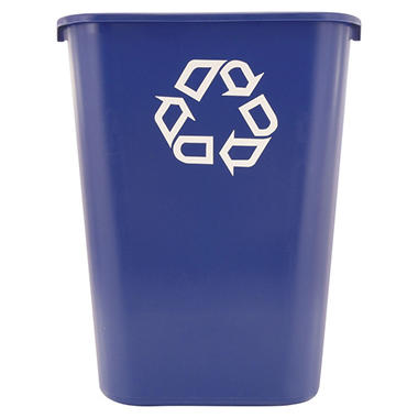 Rubbermaid Commercial Deskside Recycling Container - Blue - 41 1/4 qt.