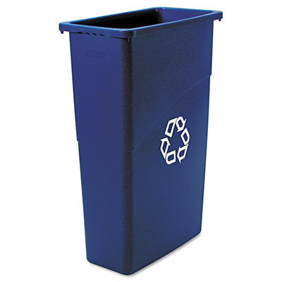 Rubbermaid Slim Jim Recycling Container - Blue - 23 gal.