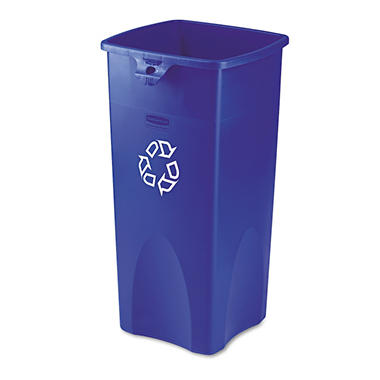Rubbermaid Square Recycling Container - Blue - 23 gal.