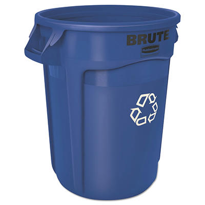 Rubbermaid Brute Recycling Container - Blue - 32 gal.