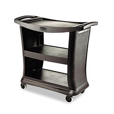 Rubbermaid Commercial - Executive Service Cart, Three-Shelf, 20-1/3w x 38-9/10d - Black