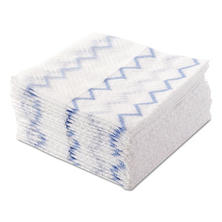 Rubbermaid Commercial HYGEN - Disposable Microfiber Cloth Starter Kit, White/Blue (240 Cloths w/Charging Tub)