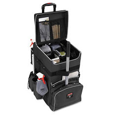 Rubbermaid Commercial - Executive Quick Cart, Large, 14 1/4 x 16 1/2 x 25 -  Dark Gray