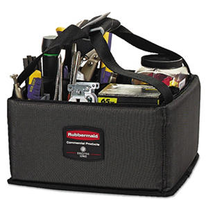Rubbermaid Commercial - Executive Quick Cart Caddy, Small -  Dark Gray