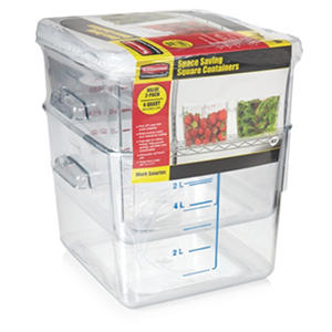 Rubbermaid 6 Quart Square Container (2pk.)