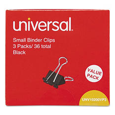 """Universal Steel Wire Binder Clips, 3/8"""" Capacity, 3/4"""" Wide, Small, 144 ct."""