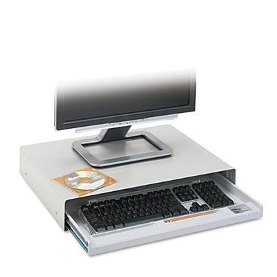 Innovera - Standard Desktop Keyboard Drawer, 20-5/8w x 10d -  Light Gray