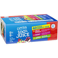 Capri Sun 100% Juice - 6 oz. - 40 pk.