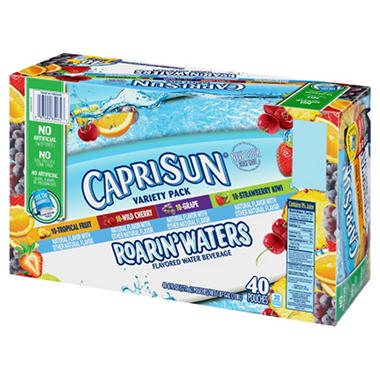 Capri Sun Roarin' Waters Variety Drink - 6 oz. pouches - 40 pk.