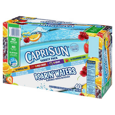 Capri Sun Roarin' Waters Variety Drink, 6 oz. pouches (40 pk.)