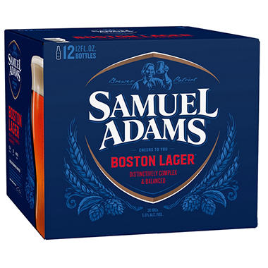 SAM  ADAMS LAGER 12 / 12 OZ BOTTLES