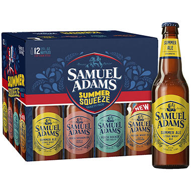 SAM ADAMS VARIETY 12 / 12 OZ BOTTLES
