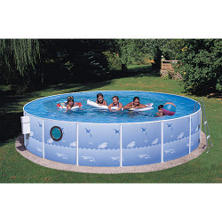"Sun 'n' Fun 15' x 36"" Steel Pool with Porthole"