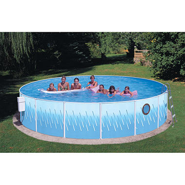"Seaview Club 18' x 42"" Round Porthole Pool Package"