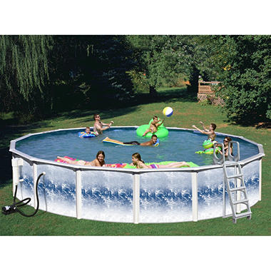 YorkTown Deluxe Above Ground Pool Package - 18' x 48'""