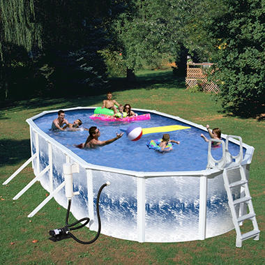 YorkTown Deluxe Above Ground Pool Package - 24' x 12' x 48