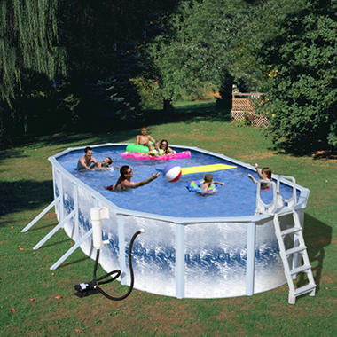 "Quantum 33' x 18' x  52"" Oval Pool Package"