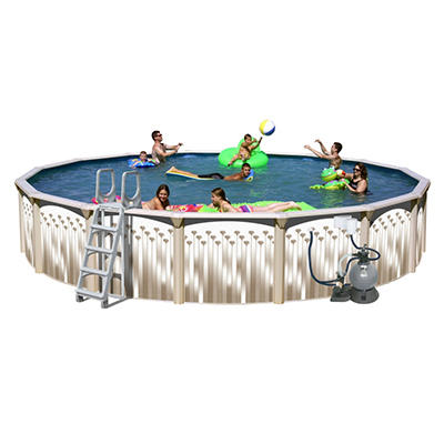 Sun N Fun Galaxy View Round Above Ground Pool Package - 24' x 52""