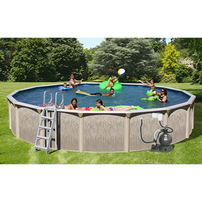 Sun N Fun Galaxy View Round Above Ground Pool Package - 27' x  52""