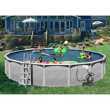 "Rock View 30' x 52"" Round Deluxe Pool Package"
