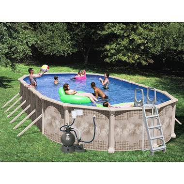 "Nautilus 33' x 18' x 52"" Oval Deluxe Pool Package"