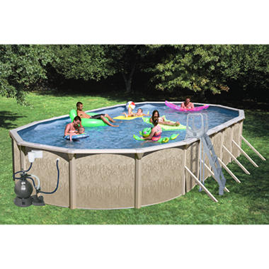 Sun N Fun Galaxy View Oval Above Ground Pool Package - 33' x 18' x 52""