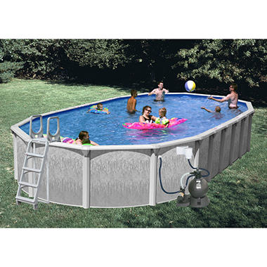 Rock View Oval Aboveground Pool - 30' x 15' x 52""